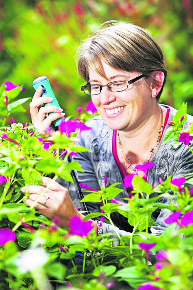 thisisoxfordshire: Senior curator Dr Alison Foster at the Botanic Garden