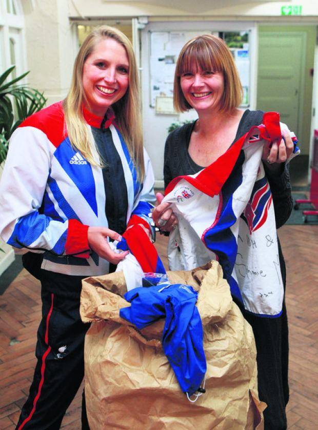 Paralympic swimmer Stephanie Millward, left, and Jenny Fox