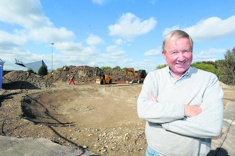 Gordon Roper at the site of the new skate park