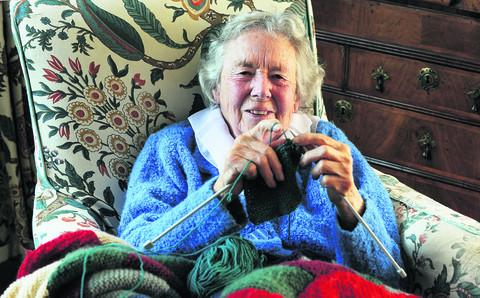 thisisoxfordshire: Katharine Ross was there at the beginnings of Oxfam, which is 70 years old today. At the age of 90 she still knits blankets for the charity's Summertown shop to sell. Picture: OX54695 Jon Lewis