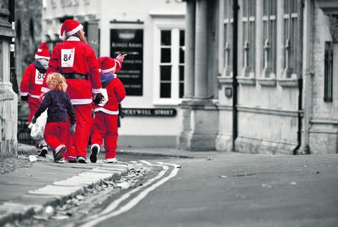 thisisoxfordshire: Drayton's Julian Mole, 36, took this picture on a society trip to Oxford's Santas on the Run charity event