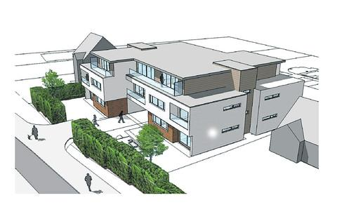 thisisoxfordshire: The revised plan for 12 apartments at West Way, Botley