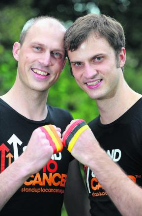 Brothers James, left, and Nick Clarke are backing the Stand Up To Cancer campaign    Picture: OX54722 Jon Lewis