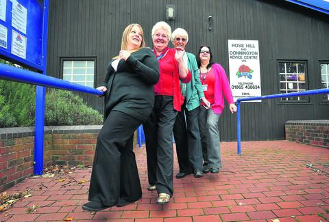 Staff at Rose Hill and Donnington Advice Centre are, left to right, Sarah Meziu, Carole Roberts, Sue Tanner and Sharon Bates
