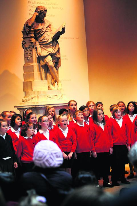 Pupils from North Kidlington Primary School and West Kidlington Primary School take part in their performance