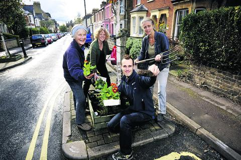 Volunteer Maggie Lloyd, left, with Anna Eden, Paul Mocroft and Claire Ball