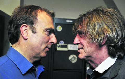 Peter Hitchens, left, and Howard Marks