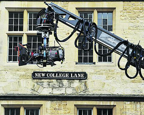 Filming in Oxford