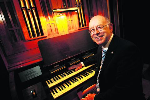 John Collier, retiring organist, St Nicholas Church, Old Marston