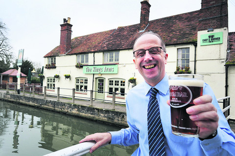 Bob Morton, manager of the Kings Arms in Sandford-on-Thames