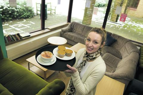 Rosa Parsons in the new cafe area Restore aims to open as part of its new shop