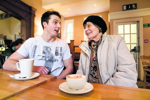 James Arwyn-Jones with Celia Cope. Picture: OX56919 Antony Moore