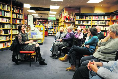 thisisoxfordshire: Allan Ledger, 69, from Burford, pictured in the audience second right, with author Paula Byrne, far left