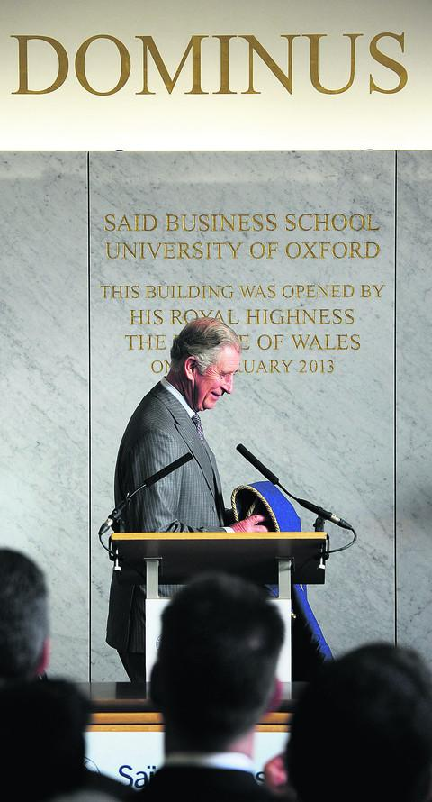 Prince Charles officially opens Said Business School's new wing. Picture: OX57194