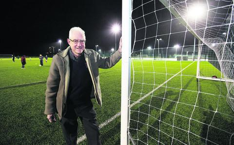 Oxford City FC chairman Brian Cox at the Court Place Farm pitches
