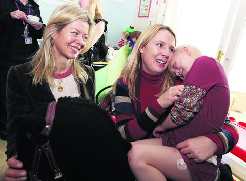 Lady Helen Taylor with Claire Kemp and daughter Livvy
