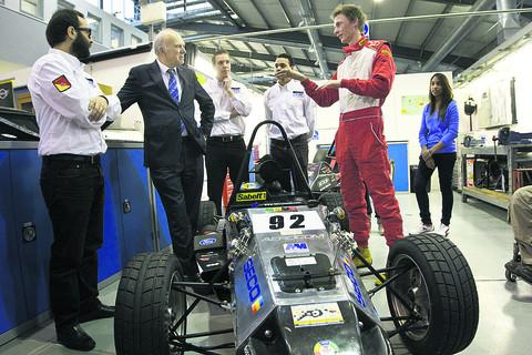Business Secretary Vince Cable visits Oxford Brookes University yesterday
