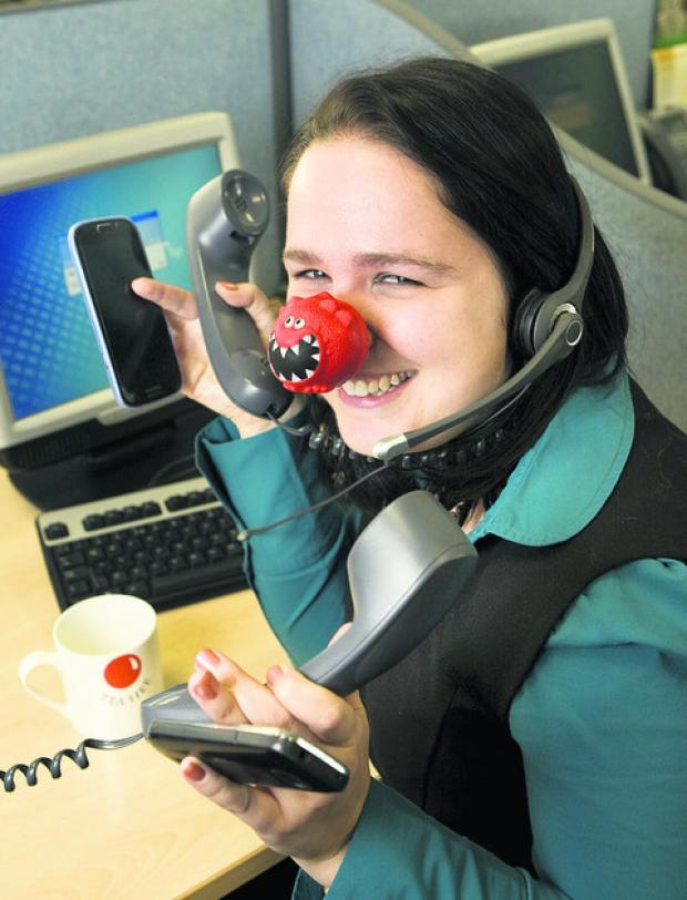 thisisoxfordshire: Gemma Buckley will be organising call-handling for Red Nose Day from Cowley