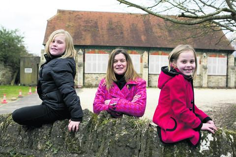 thisisoxfordshire: From left, Angel-Kay Parsons, nine, Natalie Ellis, who is going to be Brown Owl of the new Littlemore Brownie pack, and Skye Mills, eight
