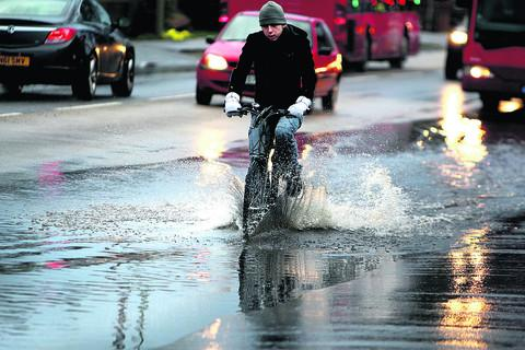 Flooding in Oxford's Abingdon Road last December