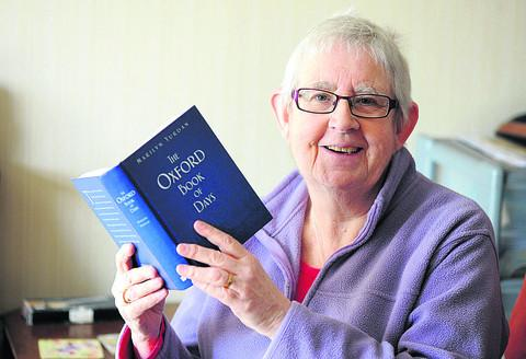 Marilyn Yurdan with The Oxford Book Of Days. Picture: OX57949 Denis Kennedy