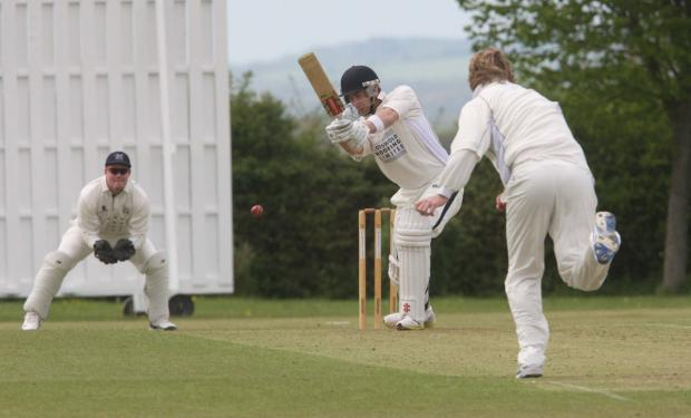 thisisoxfordshire: Tew's Joe White had hit 39 off 21balls before their cup tie with Chesham was washed out