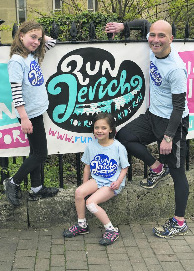 thisisoxfordshire: TRAINING: Stefano Blin with his daughters Eva, nine, left, and Katia, seven