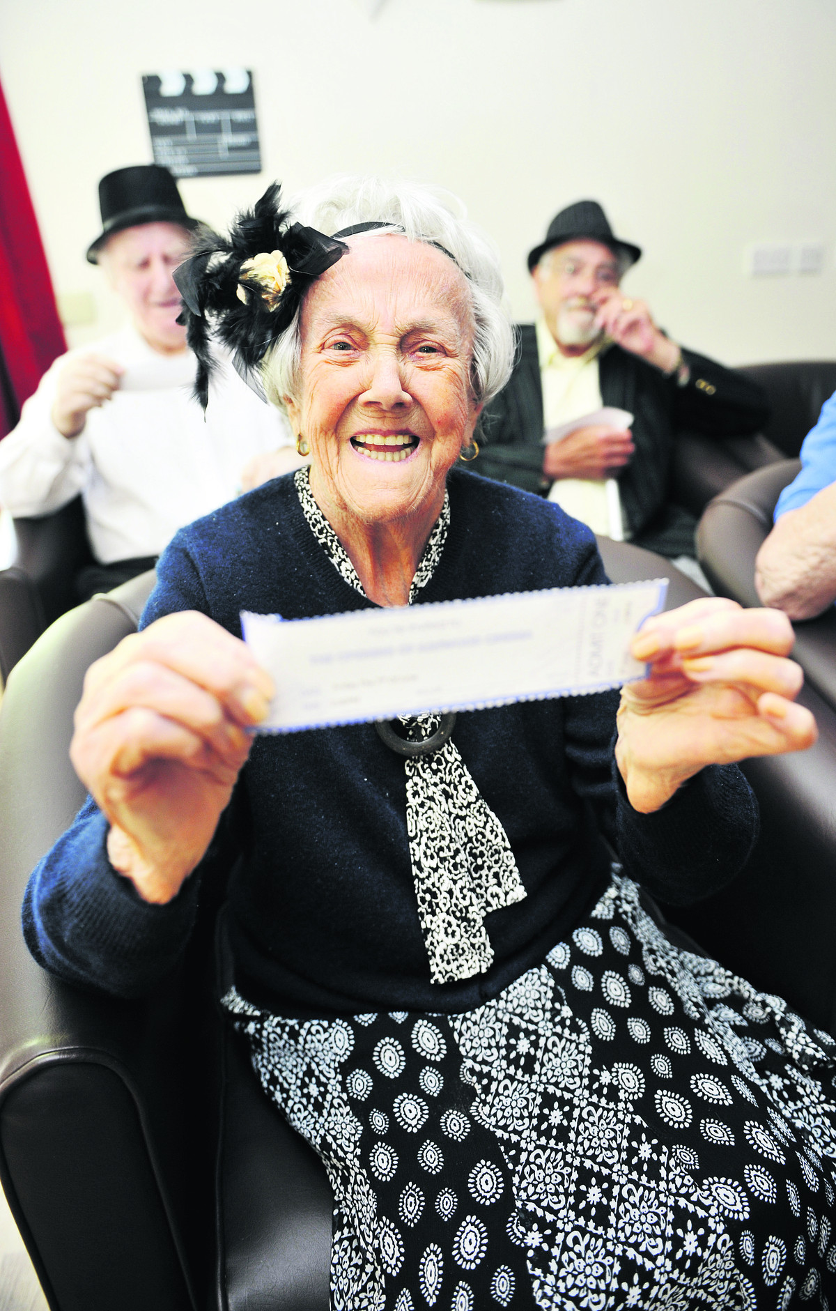Marion Dyson, 93, secures her seat
