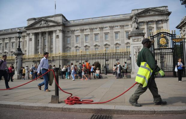 Buckingham Palace is the starting point for