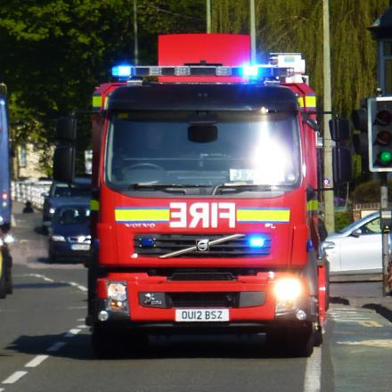 Firefighters tackle blaze at locksmiths in Cowley