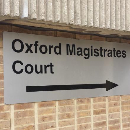 The case was heard at Oxford Magistrates' Court