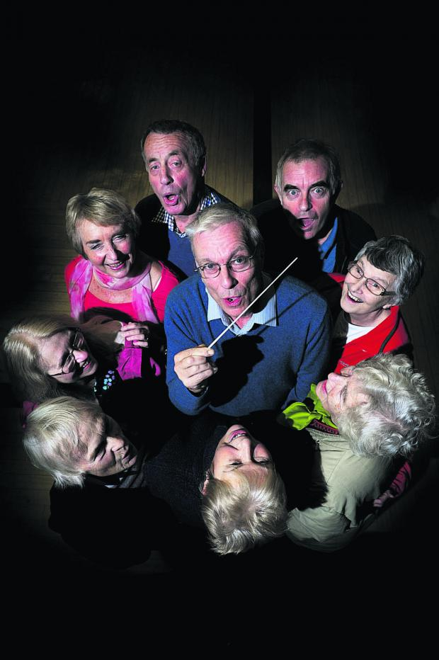 thisisoxfordshire: Paul Ingram, centre, with operatic society members
