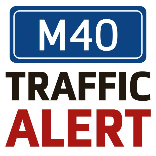 thisisoxfordshire: Three lanes closed on the M40 Southbound due to overturned vehicle