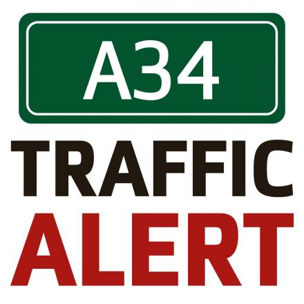 Major delays on the A34 as lorry jack-knifes between near Peartree