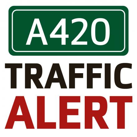 One lane of the A420 closed due to emergency repairs