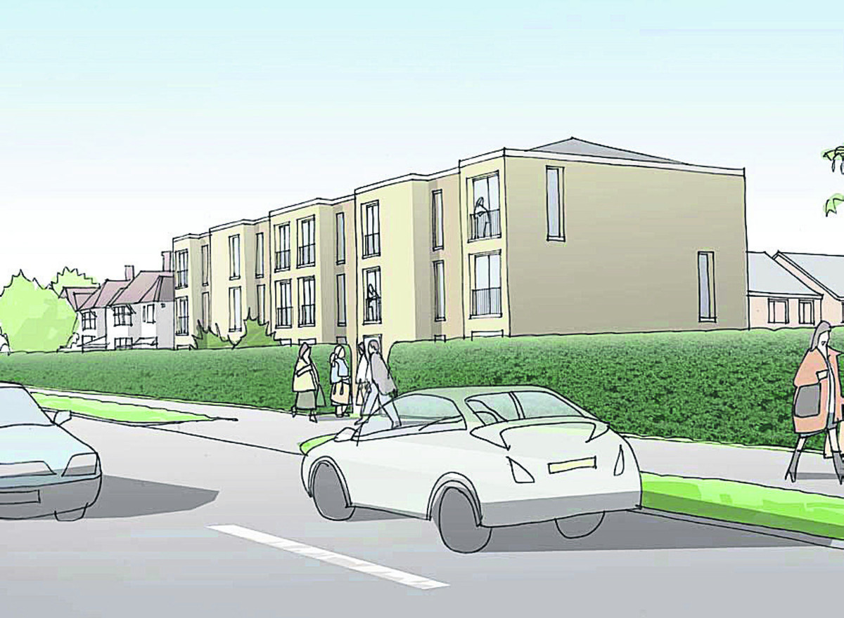 An artist's impression of the development