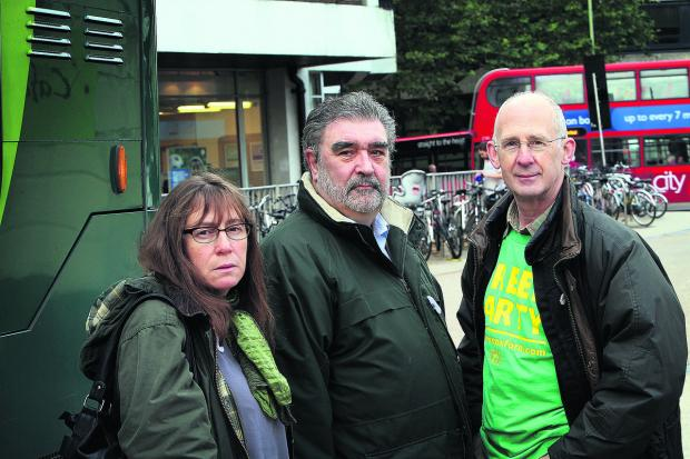 thisisoxfordshire: Greens' Elise Benjamin, Dick Wolff and David Williams