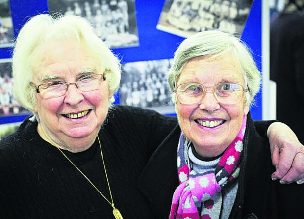 thisisoxfordshire: Old chums: Mary Timbrell and Cynthia Cobley who both attended the school from 1941-52
