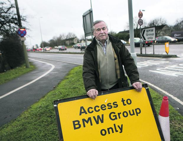 Colin Mutton is baffled as to why a public road by the Mini plant has been closed by the county council. Picture: OX64667 Antony Moore