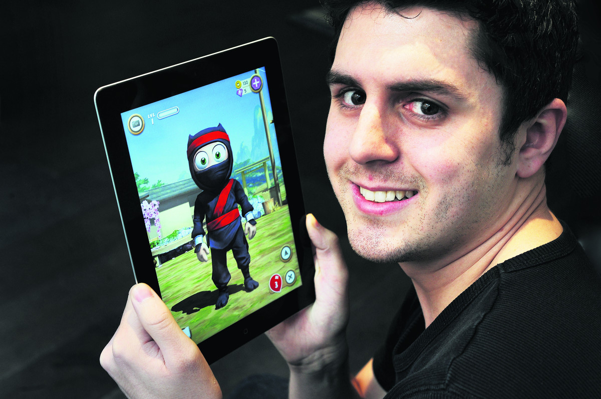 Company scores direct hit with its Clumsy Ninja game + Video