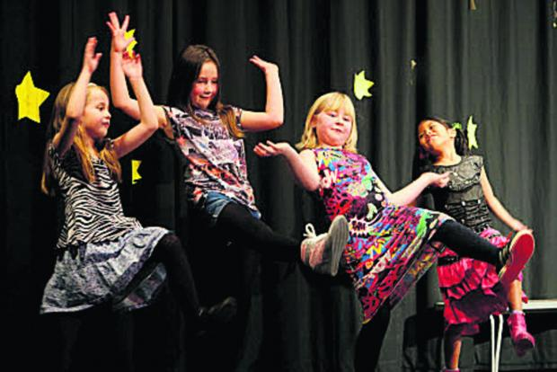 thisisoxfordshire: From left, Stevie-Ann Ritson, Phoebe Parker, Casey Whiting and Ashley De Leon perform