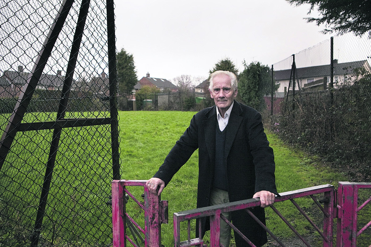 Pete Bonney at one of the play areas put up for sale by the city council