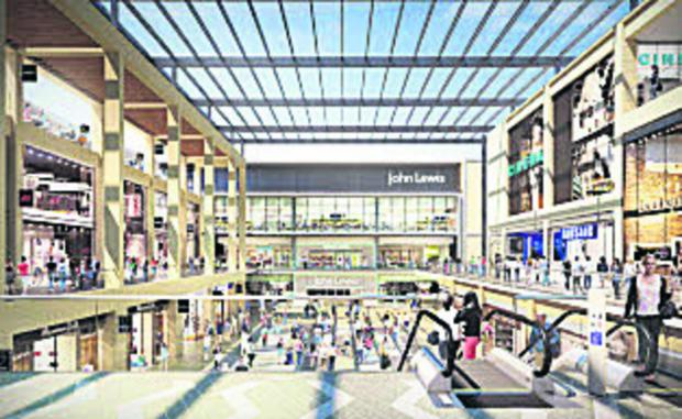 An artist's impression of the Westgate plans