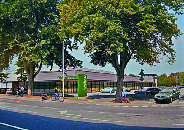 Artist's impression of a planned Waitrose on the Botley Road