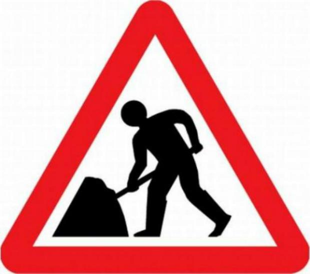 Roadworks causing queues and bus delays