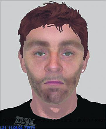 An e-fit of the man police want to trace