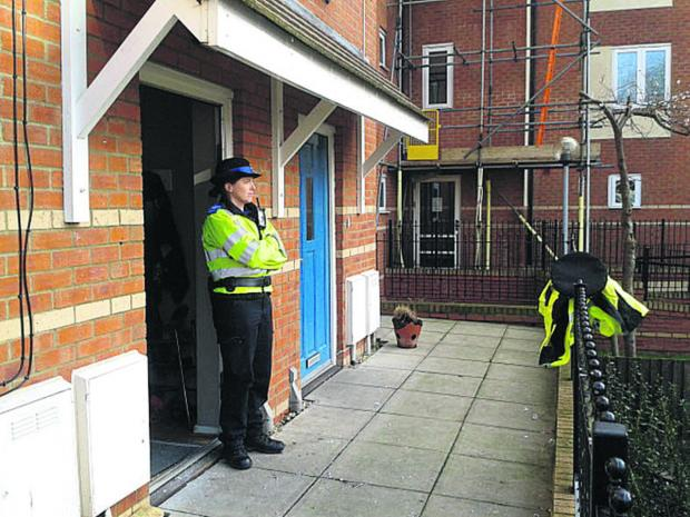 thisisoxfordshire: A PCSO at the house in Osney Court
