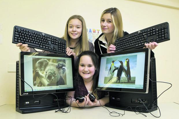thisisoxfordshire: Cara Cullen, Lisa Crawford and Harmony Scott-Russell, all aged 13, are looking forward to the new club