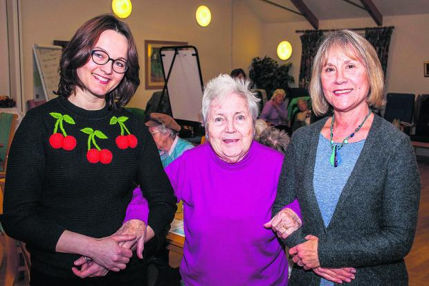 thisisoxfordshire: Assistant manager Magadalena Pacholewicz, Margaret Protherough, 84, and care assistant Annie Bignold at the Daybreak Rosewood Club in Blackbird Leys