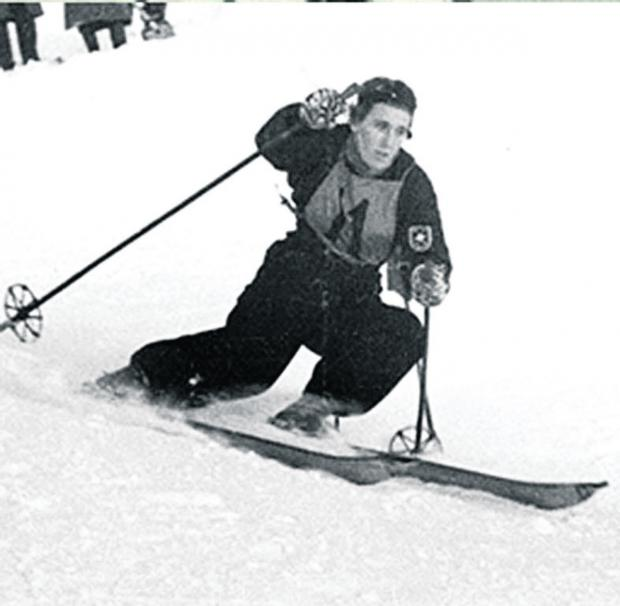 thisisoxfordshire: Downhill slalom pioneer Sir Arnold Lunn in action on the slopes